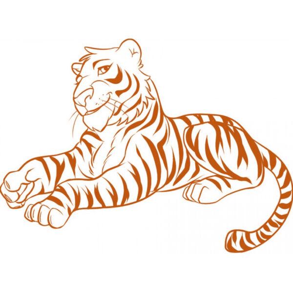 Трафареты тигра на окна для вырезания из бумаги на Новый год 2022 этап 9