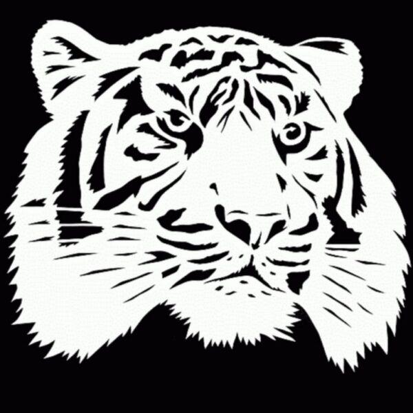Трафареты тигра на окна для вырезания из бумаги на Новый год 2022 этап 8