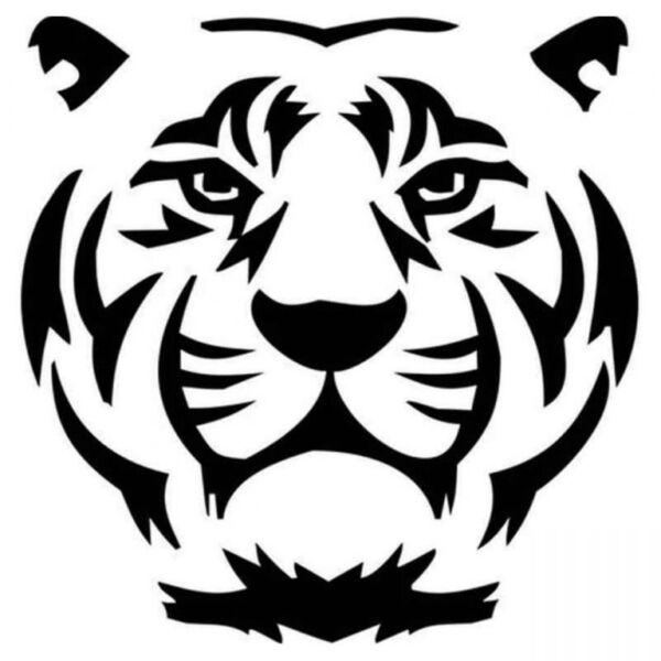 Трафареты тигра на окна для вырезания из бумаги на Новый год 2022 этап 4