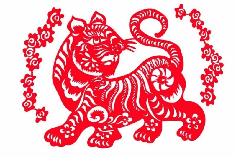 Трафареты тигра на окна для вырезания из бумаги на Новый год 2022 этап 26