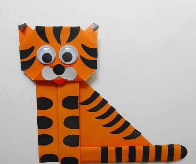 Поделки тигра на Новый год 2022 своими руками из подручных материалов этап 17