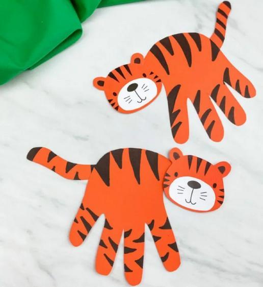 Поделки тигра на Новый год 2022 своими руками из подручных материалов этап 16