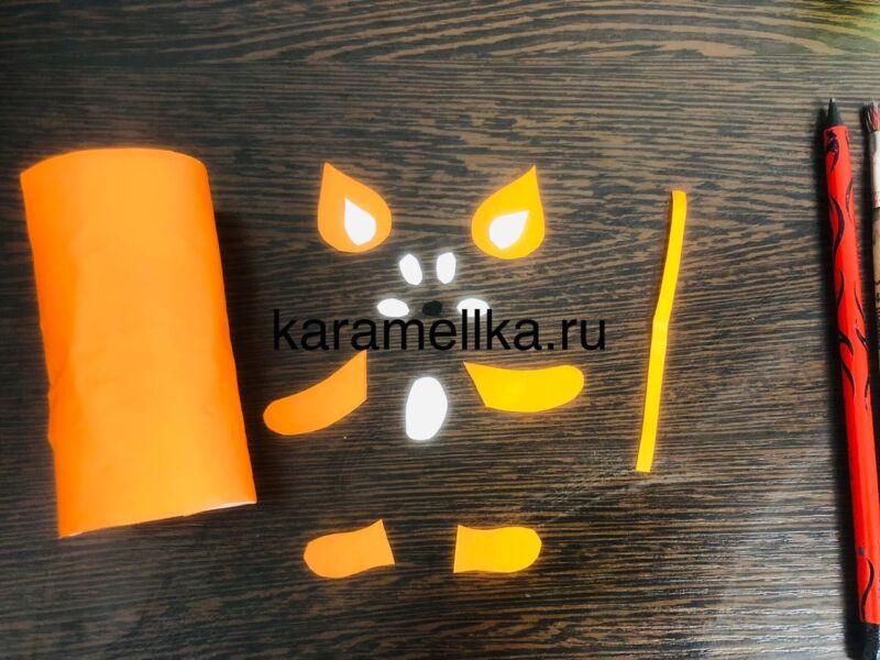 Поделки тигра на Новый год 2022 своими руками из подручных материалов этап 4
